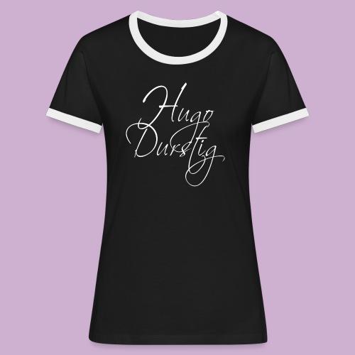 Hugo Durstig - Frauen Kontrast-T-Shirt