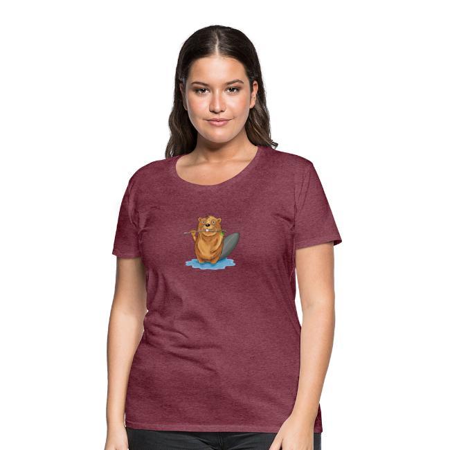 bissiger Biber - Frauen Premium T-Shirt