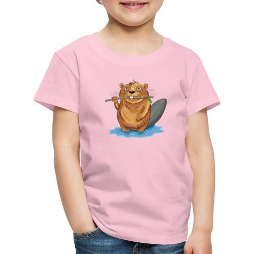 bissiger Biber - Kinder Premium T-Shirt  - Kinder Premium T-Shirt