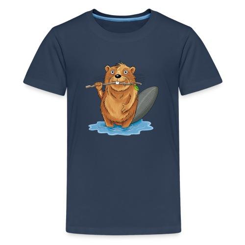 bissiger Biber - Teenager Premium T-Shirt  - Teenager Premium T-Shirt