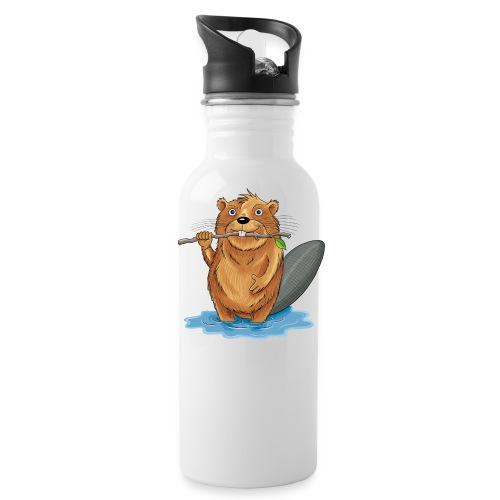 bissiger Biber - Trinkflasche  - Trinkflasche