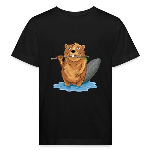 bissiger Biber - Kinder Bio-T-Shirt  - Kinder Bio-T-Shirt