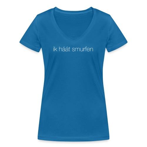 Smurfen vrouwen v-hals bio - Vrouwen bio T-shirt met V-hals van Stanley & Stella