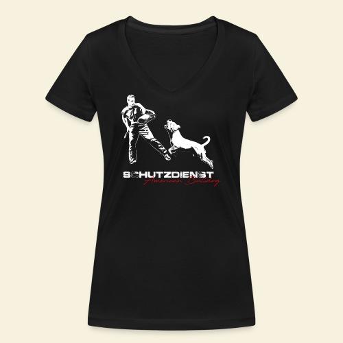 american Bulldog - Frauen Bio-T-Shirt mit V-Ausschnitt von Stanley & Stella
