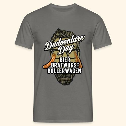 Vatertag T Shirt Dadventure Day - Männer T-Shirt