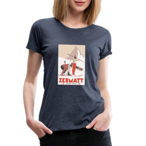 Zermatt vintage - T-shirt Premium Femme