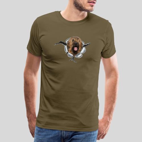 Briard fauve im *Metall-Loch* - Männer Premium T-Shirt
