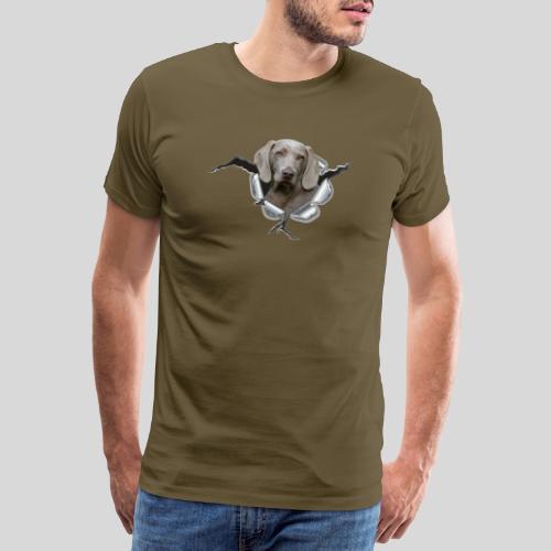Weimaraner im *Metall-Loch* - Männer Premium T-Shirt