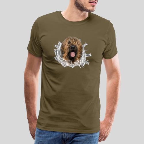 Briard fauve im *Glas-Loch* - Männer Premium T-Shirt