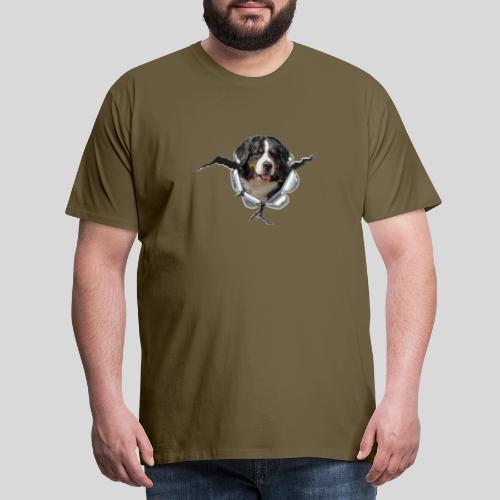 Berner Sennenhund im *Metall-Loch* - Männer Premium T-Shirt