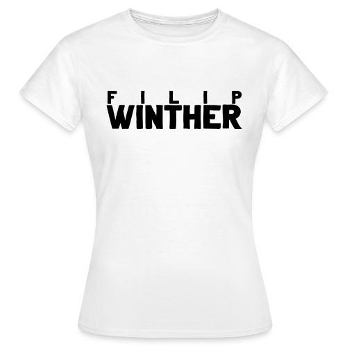 T-shirt Dam Filip Winther - Svart text - T-shirt dam
