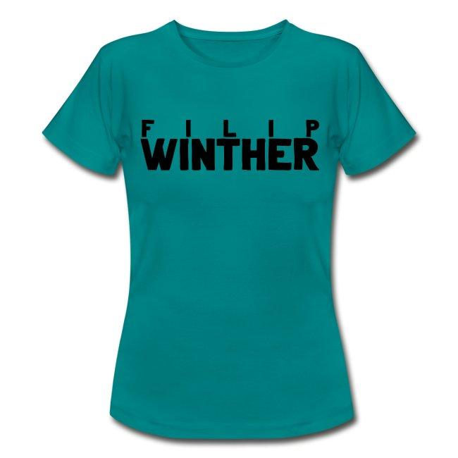 T-shirt Dam Filip Winther - Svart text