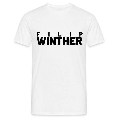 T-shirt Herr Filip Winther - Svart text - T-shirt herr