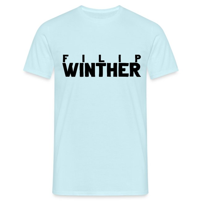 T-shirt Herr Filip Winther - Svart text