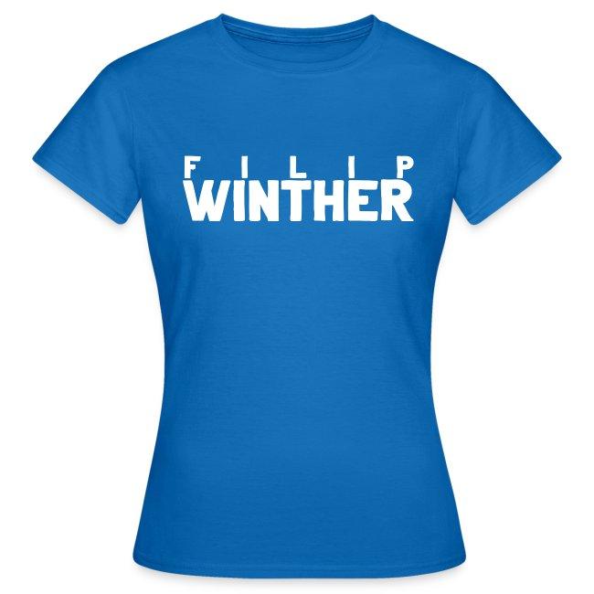 T-shirt Dam Filip Winther - Vit text