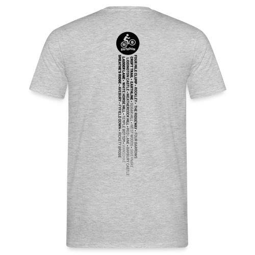 MBS Places Stripe (Black) - Men's T-Shirt