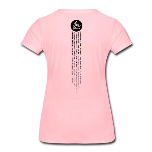 MBS Places Stripe (Black) - Women's Premium T-Shirt