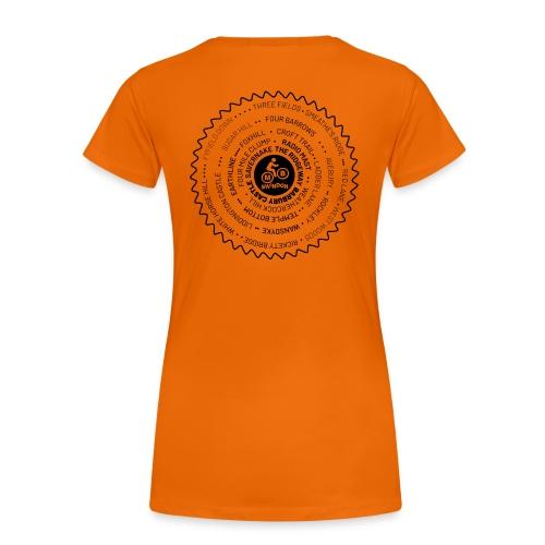Ladies MBS Places Cassette Black - Women's Premium T-Shirt
