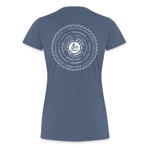 Ladies MBS Places Cassette White - Women's Premium T-Shirt