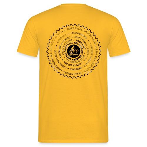 MBS Places Cassette Black - Men's T-Shirt