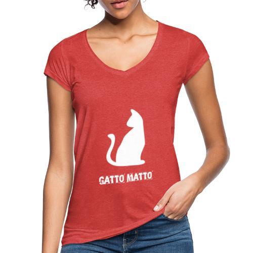 Maglietta il Gatto Matto vintage donna - Maglietta vintage donna