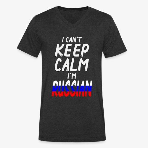 Männer Bio-T-Shirt mit V-Ausschnitt Can't Keep Calm I´m Russian - Männer Bio-T-Shirt mit V-Ausschnitt von Stanley & Stella