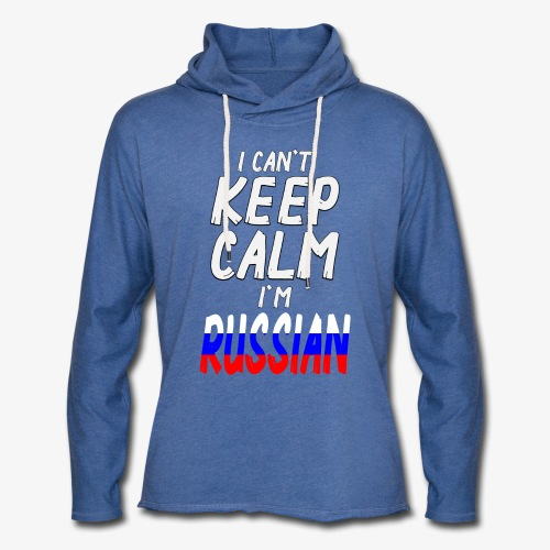 Leichtes Kapuzensweatshirt Unisex Can't Keep Calm I´m Russian - Leichtes Kapuzensweatshirt Unisex