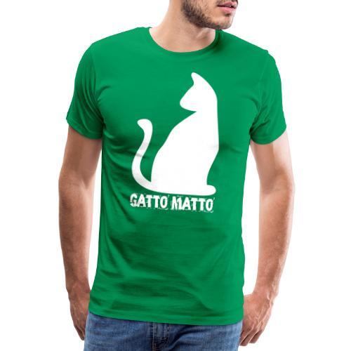 il Gatto Matto Logo T-shirt Uomo - Maglietta Premium da uomo
