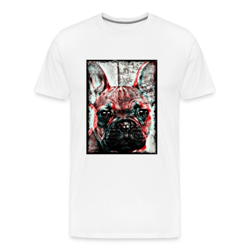 Men´s French Bulldog - Retro T-shirt - Premium-T-shirt herr