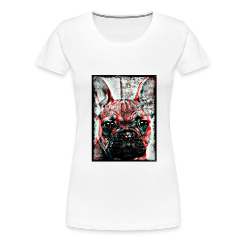 Ladies French Bulldog - Retro T-shirt - Premium-T-shirt dam