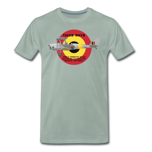 DH.82 Tiger Moth, Belgian Air Force - Men's Premium T-Shirt