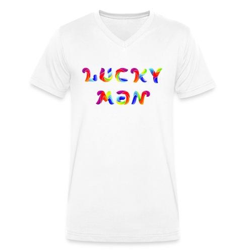 Lucky Man - Männer Bio-T-Shirt mit V-Ausschnitt von Stanley & Stella