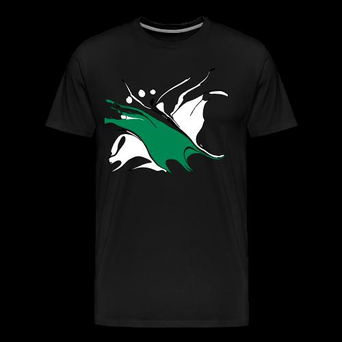 TIAN GREEN Shirt Man - quaKI 04 - Männer Premium T-Shirt