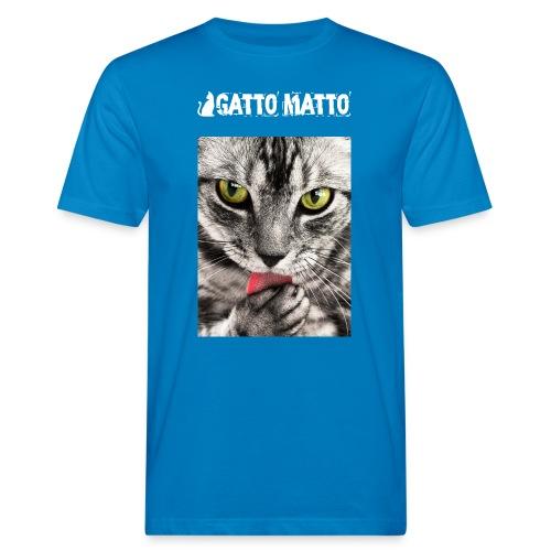 T-shirt ecologica uomo Tobby il gattino - T-shirt ecologica da uomo