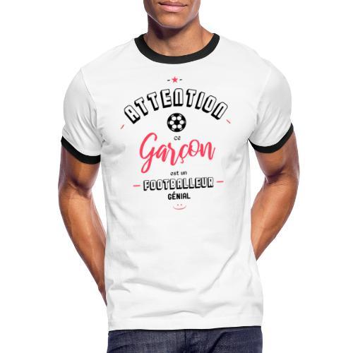 Attention footballeur génial - T-shirt contrasté Homme