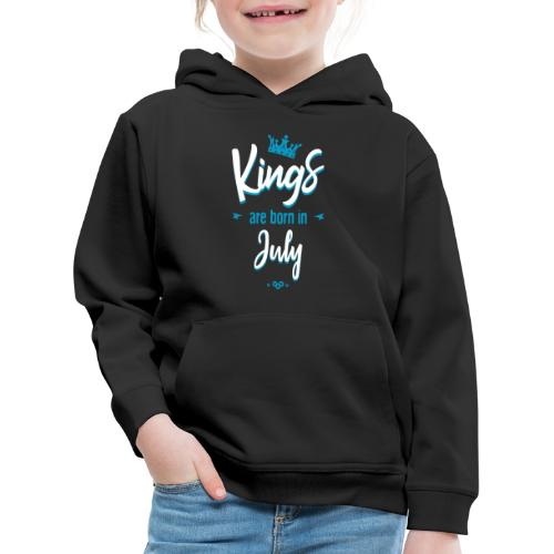 Kings are born in July - Pull à capuche Premium Enfant