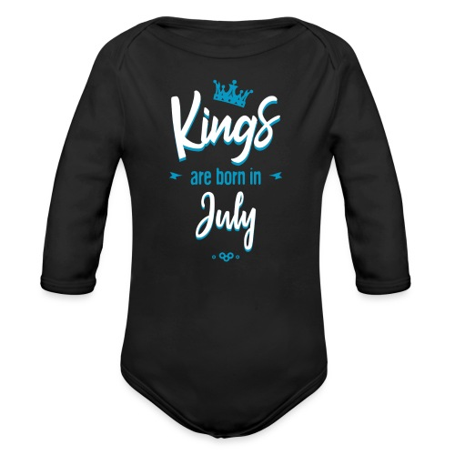 Kings are born in July - Body Bébé bio manches longues