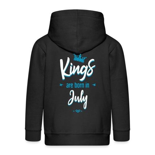 Kings are born in July - Veste à capuche Premium Enfant