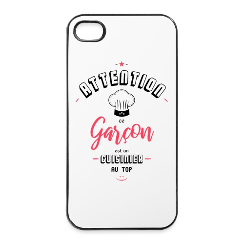 Attention cuisinier au top - Coque rigide iPhone 4/4s