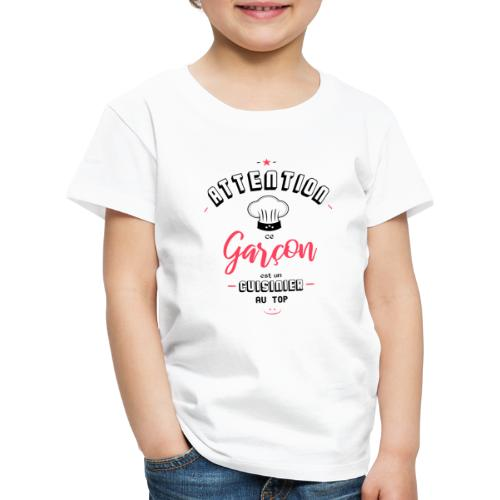Attention cuisinier au top - T-shirt Premium Enfant