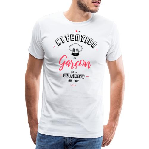 Attention cuisinier au top - T-shirt Premium Homme