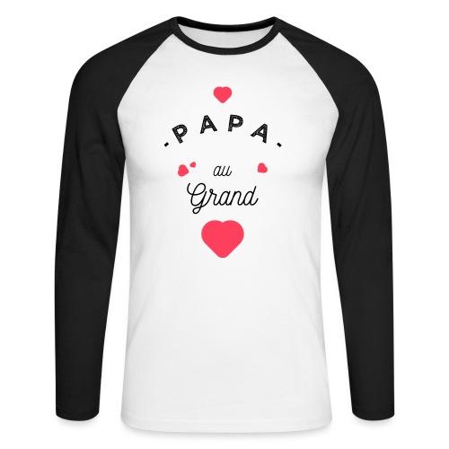 Papa au grand coeur - T-shirt baseball manches longues Homme