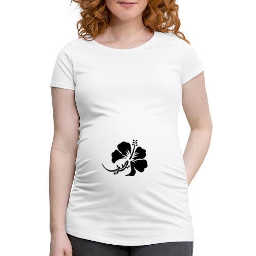 T-shirt de grossesse Femme  Margouillat & hibiscus - T-shirt de grossesse Femme