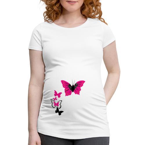 T-shirt de grossesse Femme Papillon - T-shirt de grossesse Femme