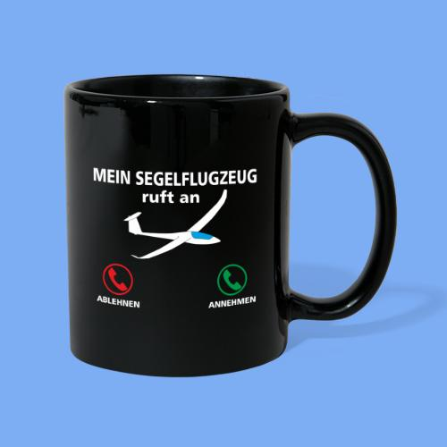 Mein Segelflugzeug ruft an - Segelflieger Spruch lustig Geschenk Tshirt Flieschen - Full Colour Mug