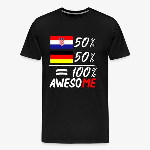 Männer Premium T-Shirt 50% Kroatisch 50% Deutsch - Männer Premium T-Shirt