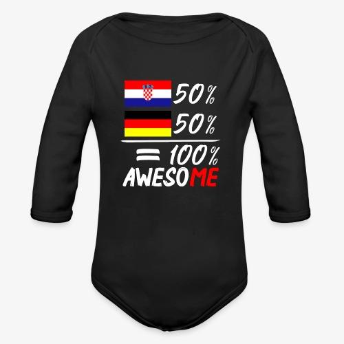 Baby Bio-Langarm-Body 50% Kroatisch 50% Deutsch - Baby Bio-Langarm-Body