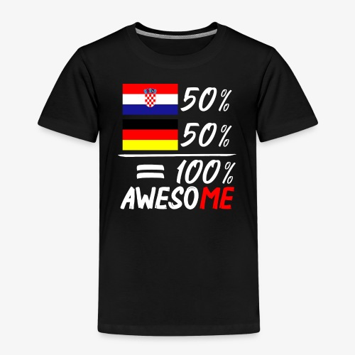 Kinder Premium T-Shirt 50% Kroatisch 50% Deutsch - Kinder Premium T-Shirt