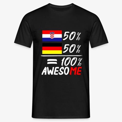 Männer T-Shirt 50% Kroatisch 50% Deutsch - Männer T-Shirt