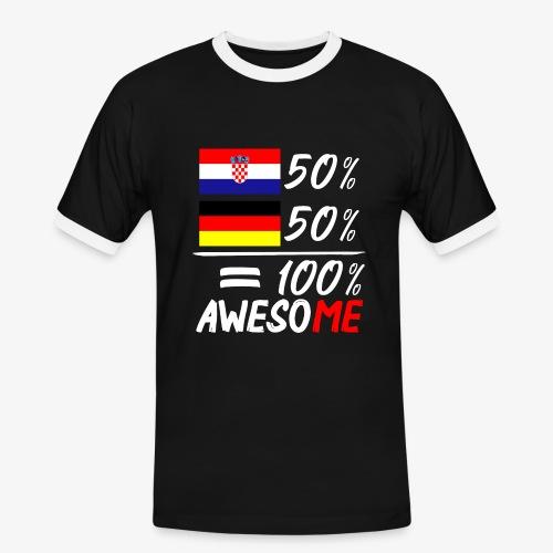 Männer Kontrast T-Shirt 50% Kroatisch 50% Deutsch - Männer Kontrast-T-Shirt